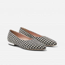 Manon - Black and White Houndstooth
